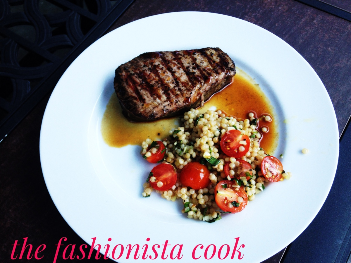 Wasabi Grilled Tuna with Couscous
