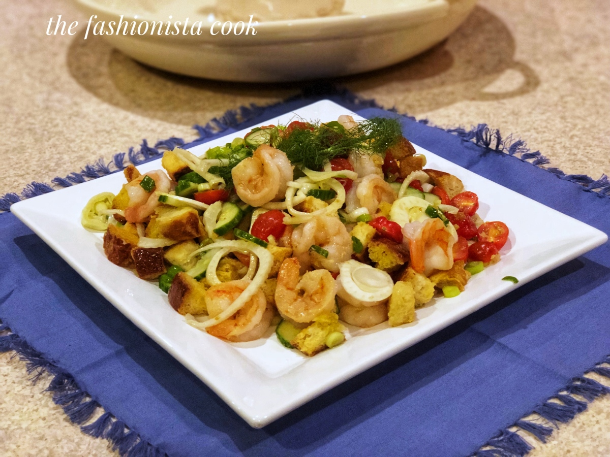 Panzanella with Shrimp and Fennel